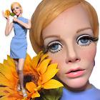 Vintage 60s Female Petite TWIGGY Mannequin Full Realistic Big Eyes Greneker Jr