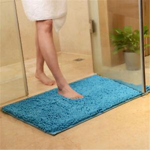 60*90cm Shaggy Chenille Bathroom Carpet Mat Bedroom Floor Mat Rug Anti-slip Rug