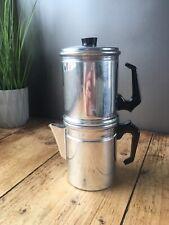 More details for mid century italian neapolitan flip & drip espresso filtered coffee maker pot