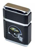 NFL Baltimore Ravens Windproof Refillable Butane Lighter Fuel Chrome Torch