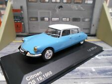 CITROEN DS 19 DS19 Limousine 1966 blau blue white Box IXO SP 1:43