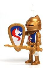 Playmobil Figure Castle Unicorn Knight Gold Helmet Wavy Sword Shield 3287 4918