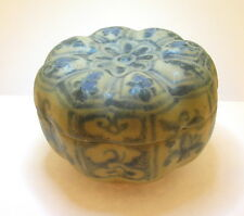 "18/19TH C. PERSIAN GLAZED MINIATURE BOX - 2"" IN HEIGHT - VERY NICE - BEST OFFER!"