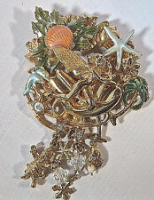 """KIRKS FOLLY RARE/RETIRED/SIGNED """"CHRISTMAS FAIRY IN THE TROPICS"""" BROOCH-FABULOUS"""