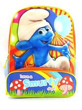 "Smurfs Have a Smurfy Day Backpack Tote Bag 16"" New"