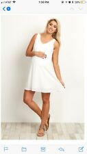 Basic White Chiffon Dress
