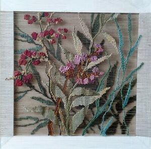 """Tapestry """"Breath of the Wind"""" Wall decor. Handmade 17.7""""x17.7"""" 2020"""