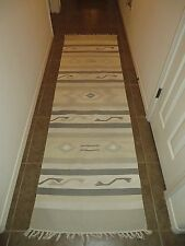 Southwestern Neutral Color Long 96 X 29 Hall Runner Rug Carpet Khaki Green