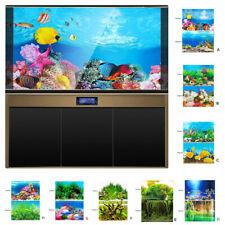 3D Double-Sided Aquarium Background Backdrop Sticker,Fish Tank Decor Landscape
