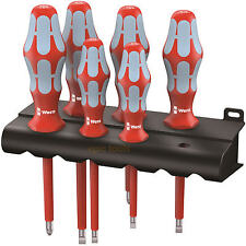 WERA Kraftform 6 Piece Stainless VDE Insulated PZ & Slot Screwdriver Set, 022745