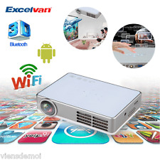 10000:1 1080P Mini Wireless WIFI DLP Projector Android 4.4 Full 3D Home Theater