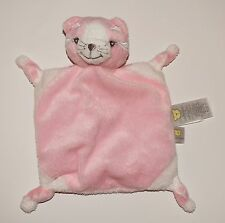 Piccolo Bambino Small Pink Tiger Cat Security Blanket Lovey Knotted Corners