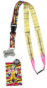 Birds Of Prey Harley Quinn ID Lanyard Badge Holder With Collectible Sticker