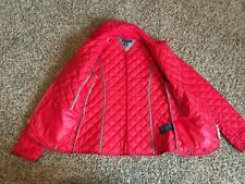 TOMMY HILFIGER WOMENS RED QUILTED LIGHT WEIGHT JACKET COAT Sz XS