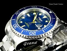 Invicta 47mm Grand Diver AUTOMATIC BLUE Dial w/Yellow Accent Bracelet Watch New