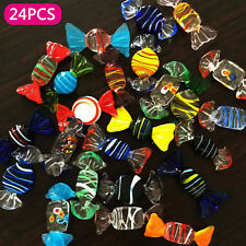 24Pk Vintage Murano Glass Sweets Wedding Xmas Party Candy Decorations Gift