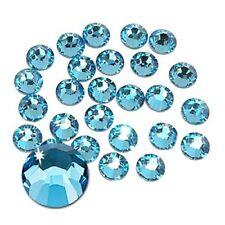 210 STRASS ADESIVI 8mm azzurro celeste Aquamarina  hotfix Brillantini Cristal