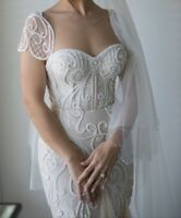wedding dress designer Berta couture gown