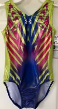 Gk Under Armour Child Medium Tank Lime Holotek Leotard Gymnastics Dance Nwt! Cm