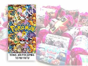 POKEMON Mini Love Hearts Sweets Party Bag Fillers Kids Childrens Thank you #1