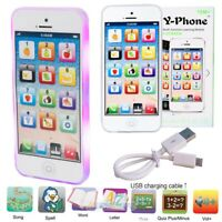 Play Music Cell Phone LED Toy Phone Learning English Education Gift fr Baby Kids