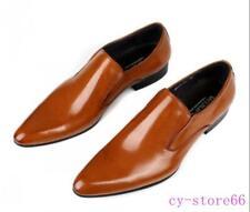 Zapatos De Vestir para hombres Cuero Genuino Británico Formal Zapatos Mocasín boda novio Retro