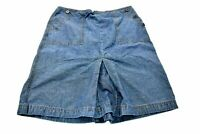 Ann Taylor Loft Women's Size 8 Cotton Denim Knee Length Casual Skirt Bottom Slit