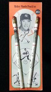 1959 Mickey Mantle Vintage Pencil Set World Pencils Bridgeport CT