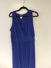 PLUS SIZE KNIT MAXI DRESS NWT 1XL ROYAL BLUE