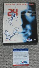 KIEFER SUTHERLAND & DENNIS HAYSBERT Signed 24 Season 1 DVD Box Set PSA/DNA COA