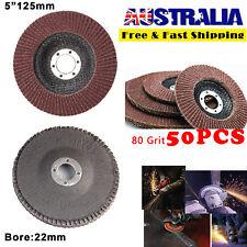 50PCS Abrasive 5'' 125MM Metal Sanding Flap Discs Angle Grinder Wheels 80 Grits