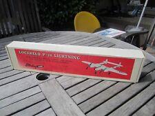 "VINTAGE NIB STERLING CONTROL LINE MODEL AIRPLANE KIT P-38 LIGHTENING, 36"""