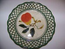 Raymond Waites Cornucopia set of 4 plates fruit with lattice edge 8 inch