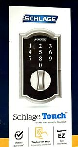 SCHLAGE- TOUCH Keyless Deadbolt - Satin Nickel - Camelot - Model BE375 V CAM 619