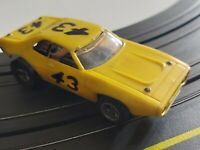 Aurora AFX All Yellow #43 Richard Petty Vintage Rare Slot Car Sears Exclusive