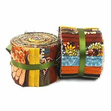 20 Piece Jelly Roll - 100% Cotton Fabric - Georgia Collection - Vintage / Brown