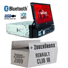 Caliber Autoradio für Renault Clio 3 Bluetooth/MP3/USB/SD/7' TFT Auto Einbauset