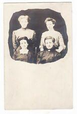 1911 RPPC HIAWATHA KS 4 BEAUTIFUL WOMEN FANCY VINTAGE POSTCARD KANSAS ONEIDA OLD