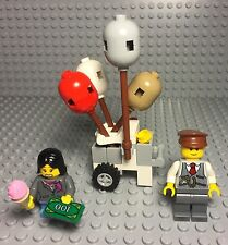Lego New Custom Balloons Cart With Mini Figures For City Square / Modular Set Up