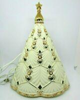 "Lenox FLORENTINE & PEARL Lighted Musical Tree, Plays ""Oh Christmas Tree"", 12"""