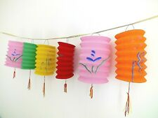 6 M COLOR CHINESE PAPER LANTERN 2.5M BUNTING GARLAND BIRTHDAY PARTY JAPANESE