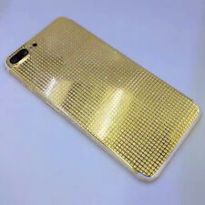 Limited 24K Gold Plated Crystal Housing For iPhone 7 7Plus diamond Battery Cover