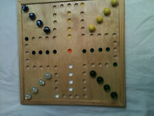 """AGGRAVATION, WAHOO GAME BOARD  14 1/4 x 14 1/4 inch 4 player board 13/16"""" marble"""