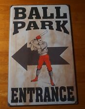 BALL PARK ENTRANCE Vintage Reproduction Retro Style Baseball Stadium Sign NEW