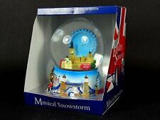 Extra Large Musical Snow Globe, Composite - Detailing London Eye and Skyline