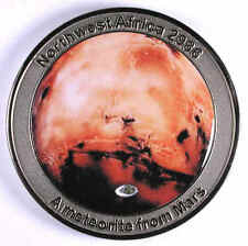 NWA 2986 MARS Meteorite Medal (first series) - by catchafallingstar.com