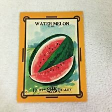 Antique Burts Seed Package Watermelon Bright Color Litho Empty T55