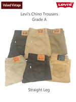 LEVIS LEVI MENS CHINO TROUSERS 501 505 514 STRAIGHT LEG W30 W32 W33 W34 W36 W38