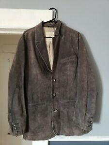 The Territory Ahead Men's Outer Leather Blazer Jacket Size Large - Brown