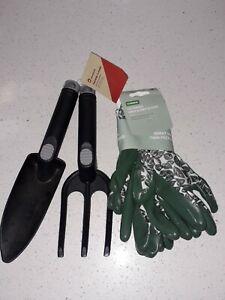 BNWT Homebase Ladies Garden Gloves Wiv Trowel & Fork Ideal Christmas Gift